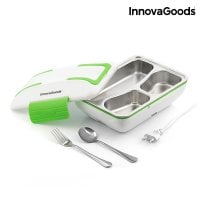 Green White Electric Lunch Box steel
