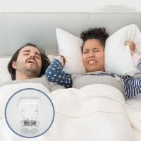 Nosebanders against snoring pillow