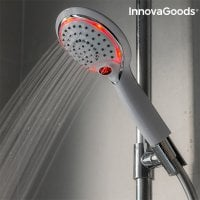 Shower with sensor and temperature meter pink