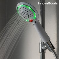 Shower with sensor and temperature meter green
