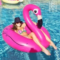 Inflatable Flamingo Swim Ring 1