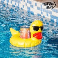 Adventure Goods Blow-Up Duck Drinks Can Holder