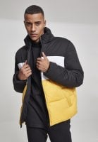 Padded men's jacket with three colors yellow