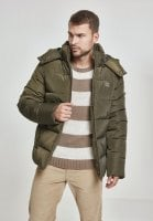 Padded jacket with hood men front