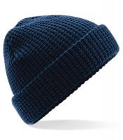 Waffle knitted hat 2