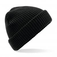 Waffle knitted hat 1