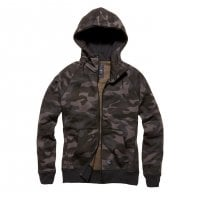 Warm ziphoodie in camouflage darkcamo