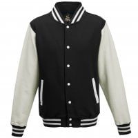 Varsity jacket with white sleeves 1