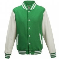 Varsity jacket with white sleeves 8