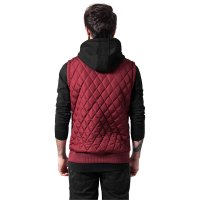 Diamond Quilted Hooded Vest 2