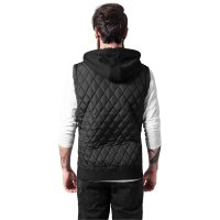 Diamond Quilted Hooded Vest black 2