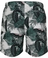 White swim shorts with palm leaves mens 3