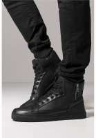 Zipper High Top Sko Svart Modell