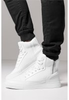 Zipper High Top Sko Vit Modell