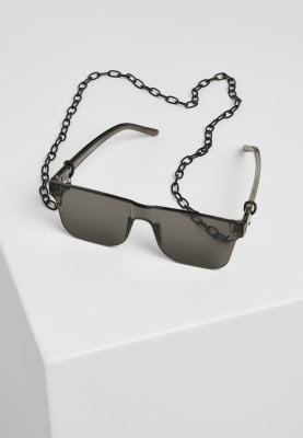 Sunglasses with straight bows and chain 2