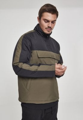 2-tone pullover jacket with padding 1