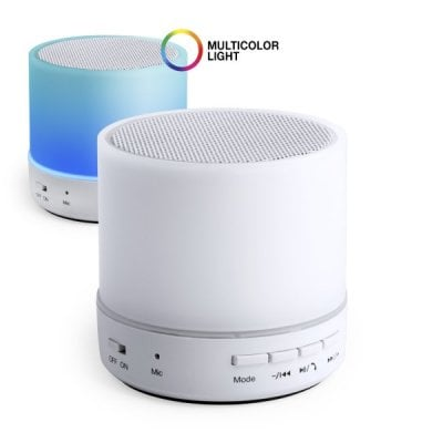 Bluetooth loudspeaker with LED light USB 3W White 146086