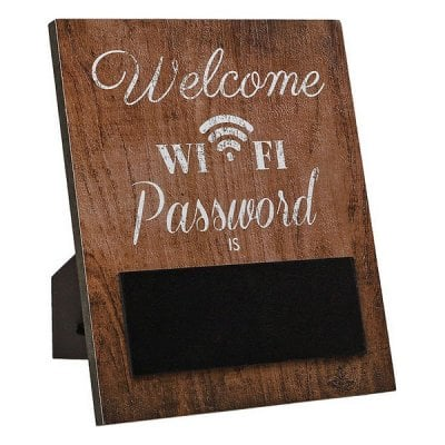 Sign wifi password brown