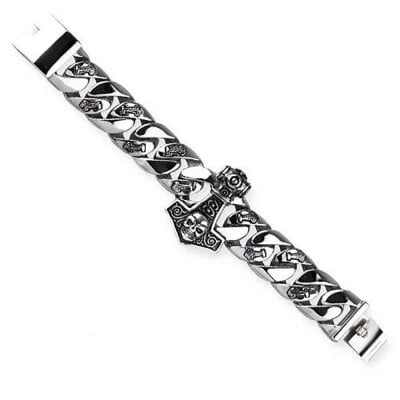 Bracelet chain with Thors hammer