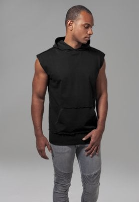 Sleeveless hoodie with wrap over
