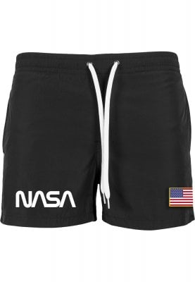Swimsuit with NASA print mens flag