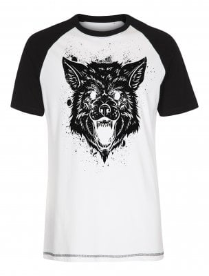Big bad wolf baseball T-shirt