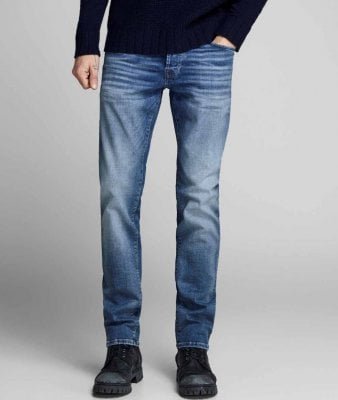 Blue jeans men slim fit 1