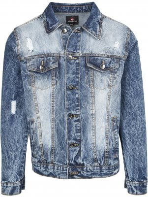 Blue denim jacket mens 1