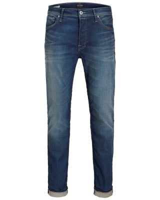 Blue washed jeans slim 1