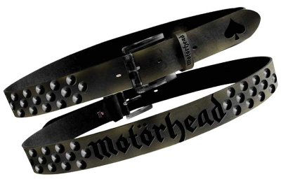 Motorhead Distressed Studded Belt