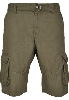 Cargo shorts with belt and ripstop 1