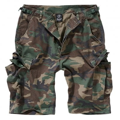Ripstop cargo shorts men woodcamo