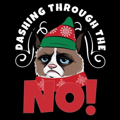 Dashing through the NO! Grumpy Cat T-shirt