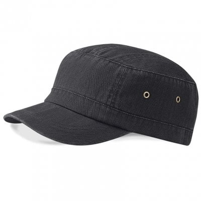 Military cap herringbone black