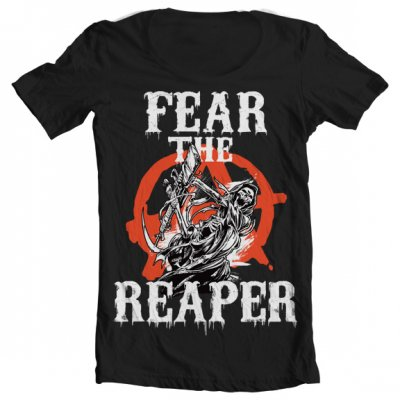 Fear The Reaper Wide Neck Tee