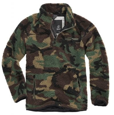 Fleece jacket teddy pullover camo 1