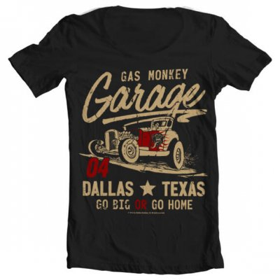 Gas Monkey Garage Go Big Or Go Home wideneck t-shirt