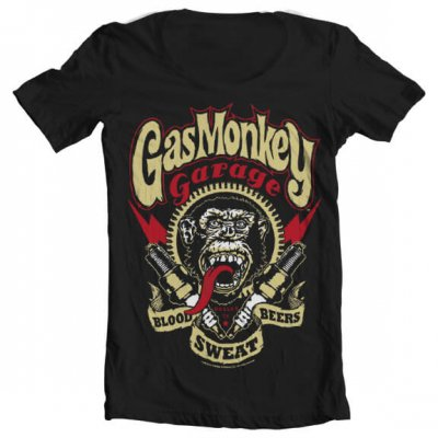 Gas Monkey Garage - Spark Plugs wide neck t-shirt