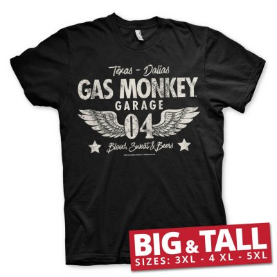 Gas Monkey Garage 04-WINGS t-shirt big and tall