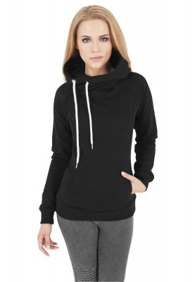 Hoodie with high neck