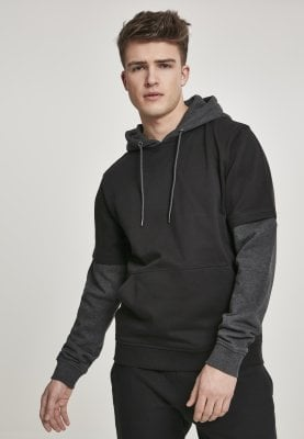 Hoodie with short and long arm front