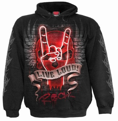 Hoodie with print Live Loud Men