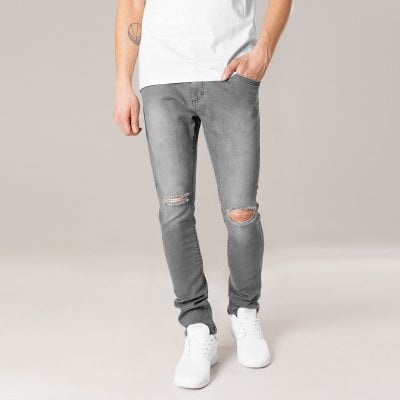 Jeans with holes at the knees men