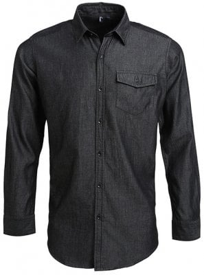 Denim shirt men black 1