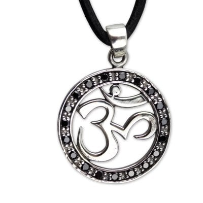 OM necklace with zirconia