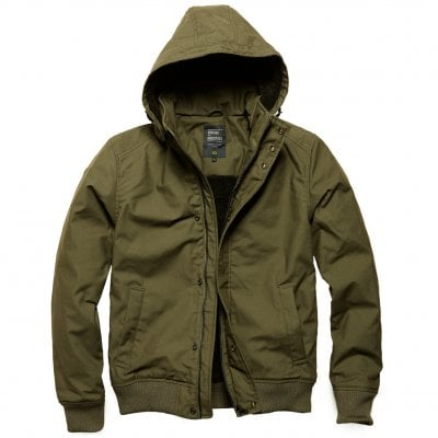 Olive Short winterjacket men Hudson