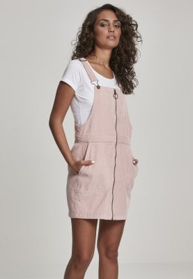 Short-sleeve brace skirt pink