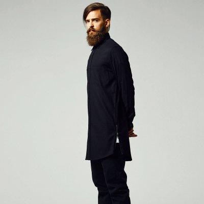 Lång Flanellskjorta Med Zip - Shirts - Mens - Oddsailor.com 207123c618a11
