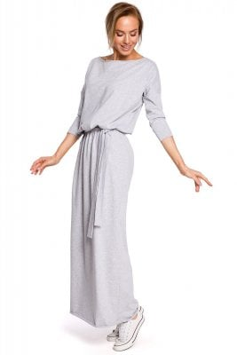 Long dress lady grey