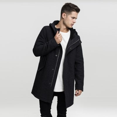 Long parka with hoodie 1